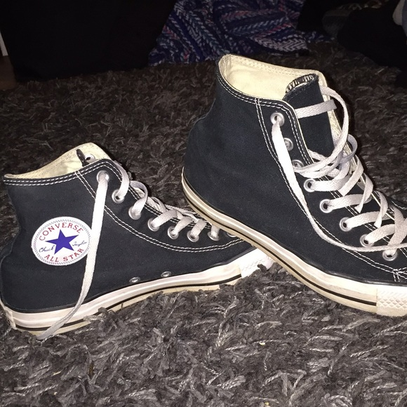 f36fa4673711c Converse Shoes - Black high top converse